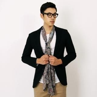 Notch-Lapel Blazer