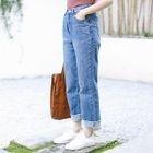 Cropped Wide Leg Jeans 1596
