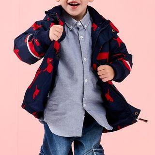 Penguin   Jacket   Print   Hood   Kid