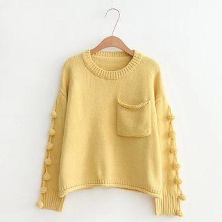 Pom Pom Detail Sweater 1062874162