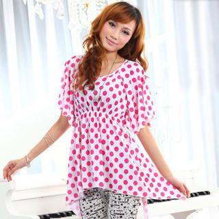 Buy doremi Hanky-Hem Polka-Dot Tunic Magenta – One Size 1022868166