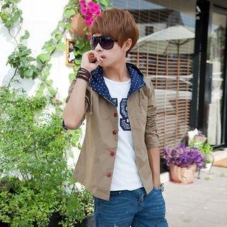 Drawstring Hooded Jacket 1057697121