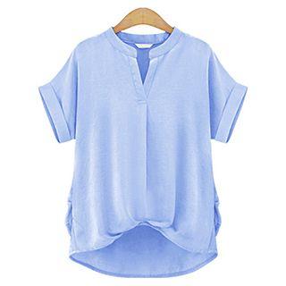 Short-Sleeve V-neck Top 1050143195