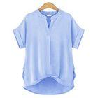 Short-Sleeve V-neck Top 1596