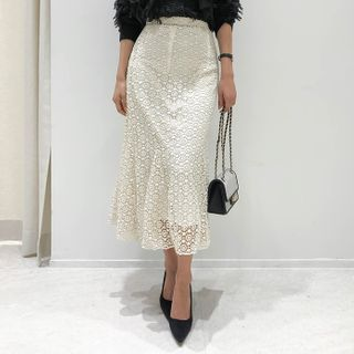DABAGIRL Lace Maxi Mermaid Skirt