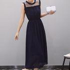 Sleeveless Mesh-Panel Maxi Dress 1596
