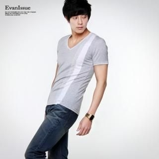 Buy evanissue V-Neck Tee Shirt 1022784540
