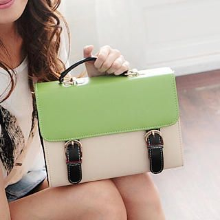 Color-Block Satchel