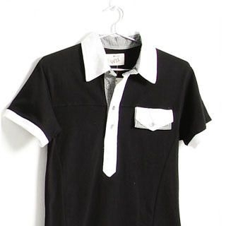Picture of SERUSH Checked Details Polo Shirt 1022952922 (SERUSH, Mens Tees, Taiwan)