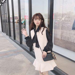 Sleeveless   Chiffon   Ruffle   Blouse   Dress   Mini