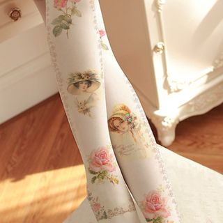 Floral | Tight | White | Lady | Rose | Size | One