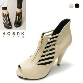 Buy HOBAK girls Genuine Leather Platform Open-Toe Pumps 1022006962