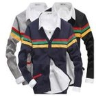 V-Neck Striped Cardigan 1596