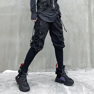 Image of Lace-Up Harem Pants