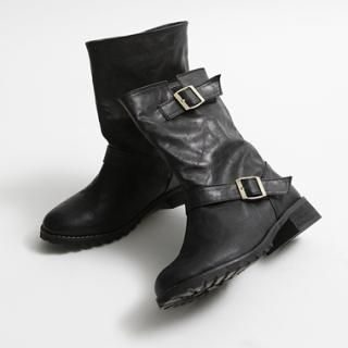 Picture of HARU Buckled Boots 1022722050 (Boots, HARU Shoes, Korea Shoes, Womens Shoes, Womens Boots)