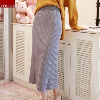 Ribbed Knit Midi Skirt 1062063200