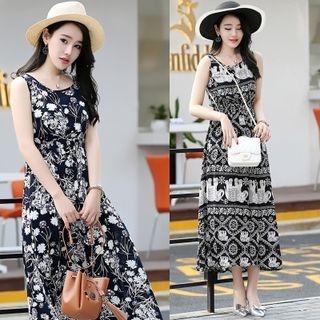 printed-sleeveless-chiffon-dress