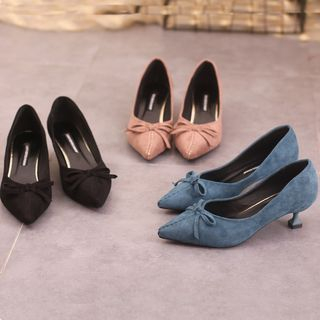 Image of Bow-Accent High-Heels