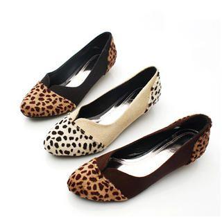 Buy KAWO Leopard Print Pointy Kitten-Heels 1022784875