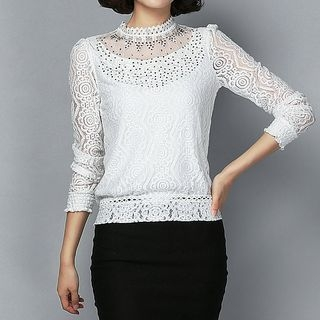 Ribbed Long-Sleeve T-Shirt 1061871459