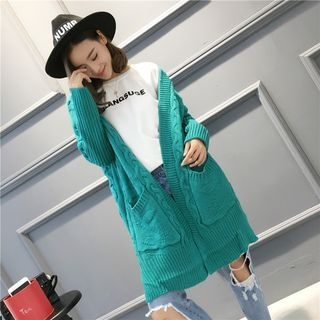 Ribbed V-neck Cardigan 1064384463