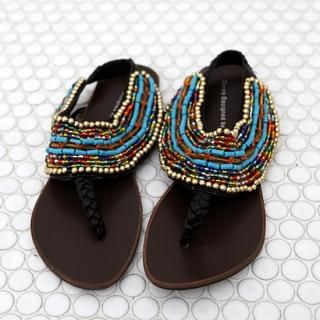 Buy SDKING Beaded Thong Sandals 1023014705