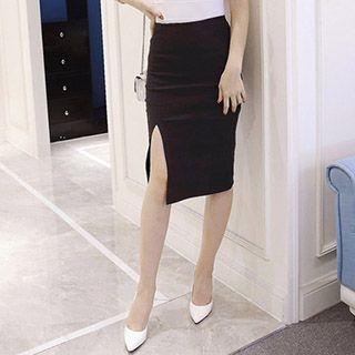 Slit Midi Skirt