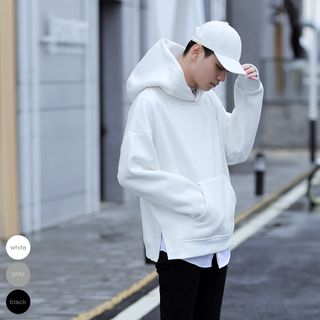 Image of Hooded Boxy Pullover
