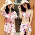 Set: Floral Print Bikini + Cover Up 1596