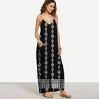 Printed Strappy Maxi Dress 1596