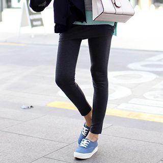 Inset Shirred Mini Skirt Leggings