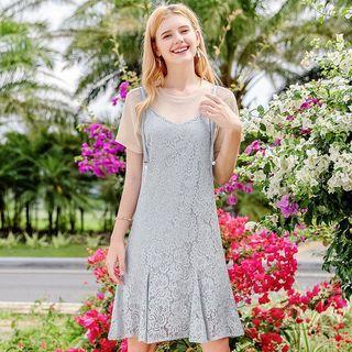 Short-sleeve | T-Shirt | Dress | Lace