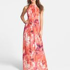 Sleeveless Floral Maxi Dress 1596
