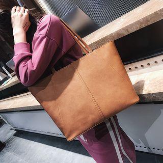 Plain Faux-Leather Tote 1062428968