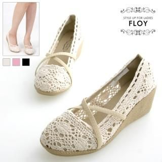 Buy FLOY SHOES Knit Wedge Pumps 1023053591