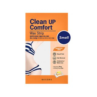 Missha - Clean Up Comfort Wax Strip (Small) 10pcs + Finishing Tissue 2pcs 10pcs + 2pcs 1060227002