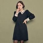 Collar-Detail A-Line Dress 1596