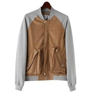 Buy TOKIO Faux-Suede Panel Zip Jacket 1022571630