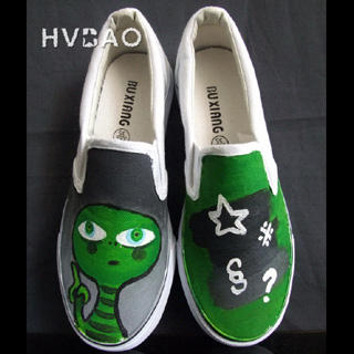 Picture of HVBAO Alien Slip-Ons 1019928011 (Slip-On Shoes, HVBAO Shoes, Taiwan Shoes, Womens Shoes, Womens Slip-On Shoes)