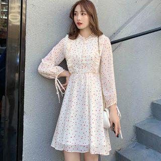 Long-sleeve | Chiffon | Heart | Dress
