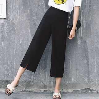 Slit Hem Wide Leg Pants 1061413554