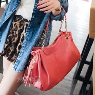 Tasseled Chain-Strap Shoulder Bag
