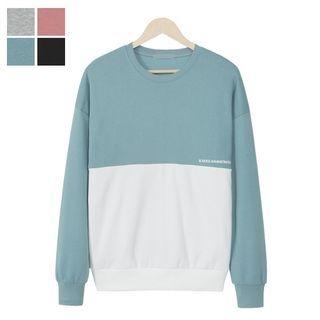 Color-Block Lettering Sweatshirt 1057618470
