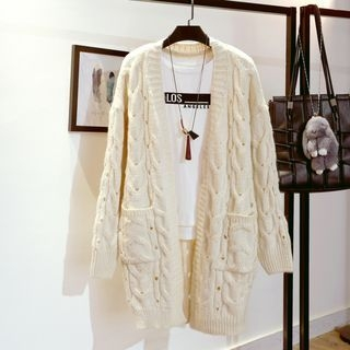 Ribbed Long Cardigan 1064589455