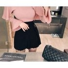 Layered Pleated Mini Skirt 1596