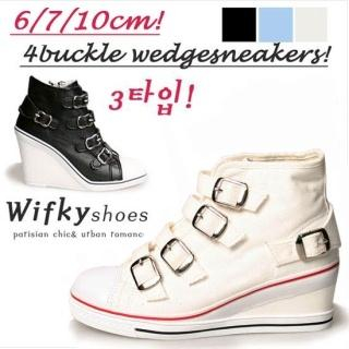 Buy Wifky Buckled Sneaker Wedges 1022779095