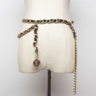 Image of Chain Belt Panel - Gold & Black - One Size
