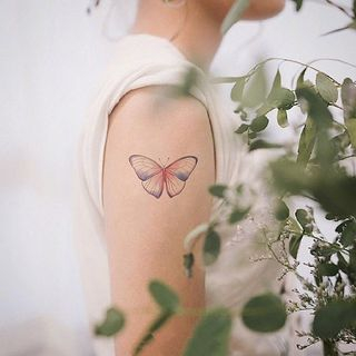 Waterproof   Temporary   Butterfly   Tattoo   Figure   Size   One