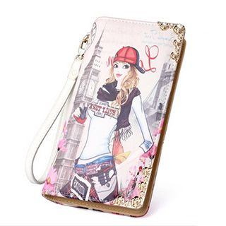 Printed Long Wallet 1046603063