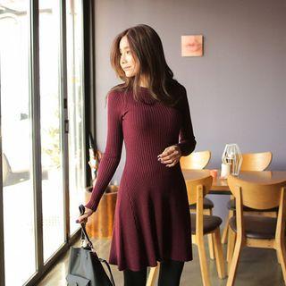 Ribbed A-Line Knit Dress 1055263873